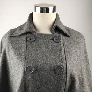 East 5th Jackets & Coats - East 5th Gray Peacoat Style Short Cape Sz S/M